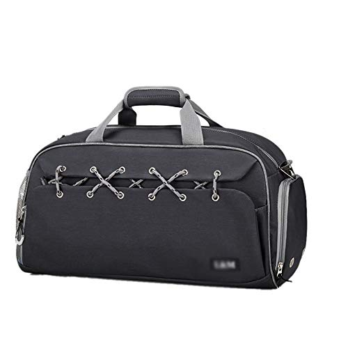 Gym Bags Training Handbag Travel Duffel Travel Duffel Bag Waterproof Sports Gym Bag Holdall Large Shoulder Tote Sports Bag For Men Women for Men and Women ( Color : Black , Size : 50x25x27cm )