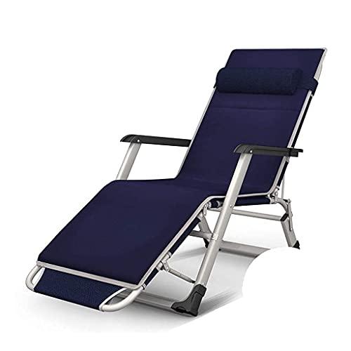 Terrassen-Freizeit-Sonnenliegen Klappbarer Liegestuhl, Freizeitstühle, Strandstühle, Liegestühle, Hochleistungs-Schwerelosigkeitsstühle, Sonnenliegen, Strandpatio-GCamping, Superbreite 65 cm