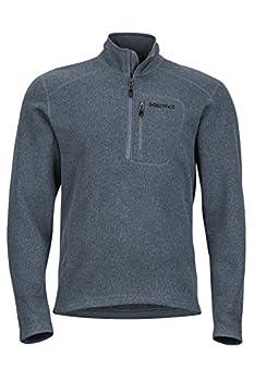 Marmot Drop Line 1/2 Zip Men s Pullover Jacket Lightweight 100-Weight Sweater Fleece Steel Onyx Medium