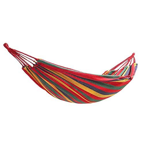 Hamaca de lona portátil hamaca cama colgante cuerda silla columpio al aire libre camping patio jardín hamacas portátiles