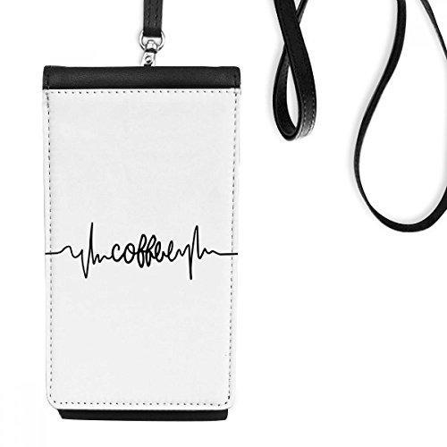DIYthinker Kaffee-Zitat-Leder-Smartphone hängende Handtasche Schwarze Phone Wallet Geschenk Mehrfarbig