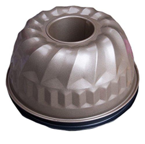 22 cm de diamètre citrouille Moule à gâteau antiadhésif Four Moule en silicone Moule Citrouille Silicone citrouille Moule à gâteau de forme à dessert, 1pc or