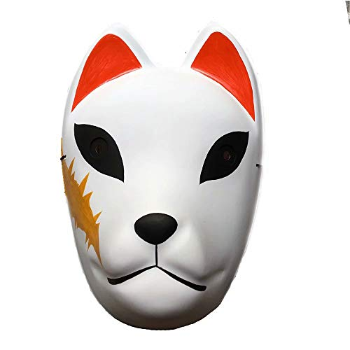 Dämonentöter Maske Anime Halloween Kimetsu keine Yaiba PVC Maske Cosplay Kostüm Ghost Blade Maske für Herren Kinder