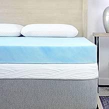 Sure2Sleep Cool Gel Swirl Memory Foam Mattress Topper Made in USA 3-Inch Full