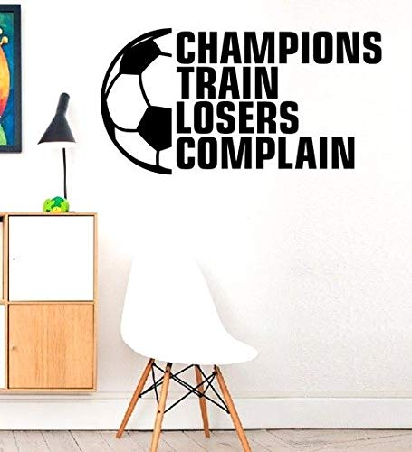 Champions Train Ball Game Player Sport Family Quote Love Decal Stickers Art