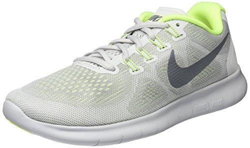 Nike Women's Free Rn 2017 Running Shoes, Grey (Wolf Grey/Pure Platinum/Cool Grey), 3.5 UK 36.5 EU