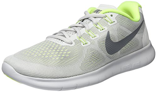 Nike Damen WMNS Free RN 2017 Laufschuhe, Grau (Wolf Grey/Cool Grey-Pure Platinum-Volt), 36.5 EU