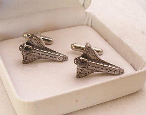 Boutons de Manchette Navette Spatiale (Space Shuttle) avec Boîte à Cadeau