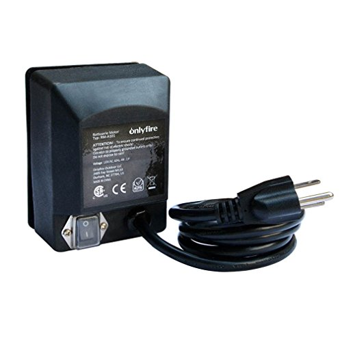 Onlyfire Universal Grill Electric Replacement Rotisserie Motor 120 Volt 4 Watt On/Off Switch Black