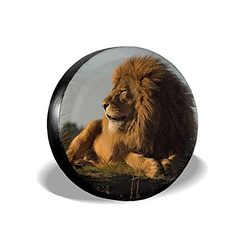Yaxinduobao Cubierta de neumático Grassland Lion Protector de Cubierta de neumático de Repuesto para neumáticos de Coche Diámetro 16 Pulgadas