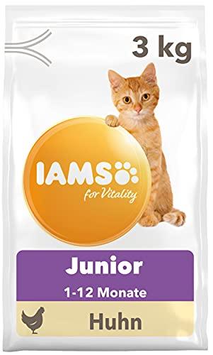 IAMS for Vitality Junior Katzenfutter - Trockenfutter für Kitten im Alter von 1-12 Monaten, 3 kg