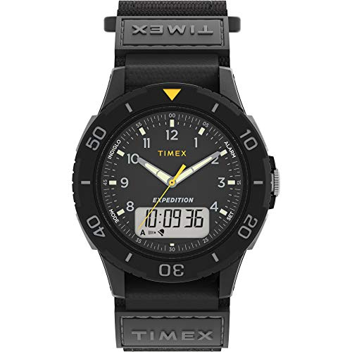 Timex Men's TW4B18300 Expedition Katmai Combo 40mm Black/Gray Fast Wrap Strap Watch
