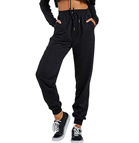 Tomatoa Damen Jogging Hose High Waist Freizeithosen Sporthose Trainingshose Casual Sweatpants Damen Hosen mit Taschen Fitnesshose Schlafanzug-Hose S,M,L,XL