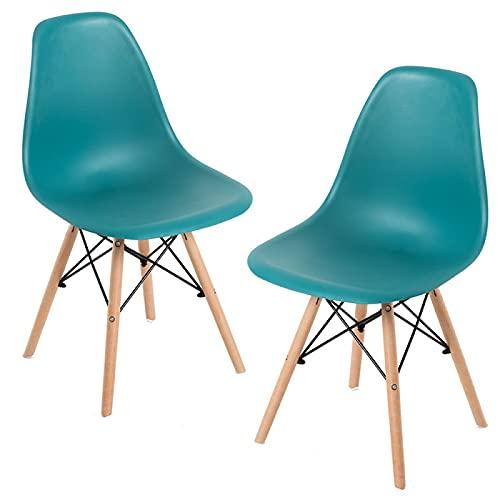 Regalos Miguel - Packs Sillas Comedor - Pack 2 Sillas Tower Basic - Verde Azulado - Envío Desde España