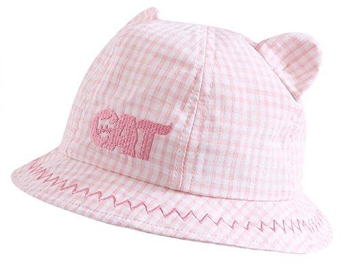 champ/ú Caja de Seguridad Ducha protecci/ón Gorro de ba/ño Taz/ón Suave Sombrero de Visera Ajustable para beb/é Xiton Rosa