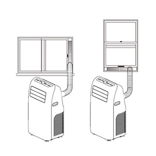 Deflector de sellado de ventana, kit de sellado de ventana duradero, accesorio de aire acondicionado, resistente al desgaste para aire acondicionado móvil(3-section baffle)