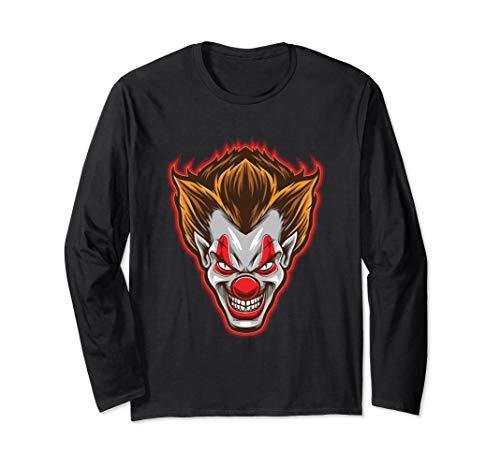 Horror Clown-Gesicht Scary Happy Halloween-Party Langarmshirt
