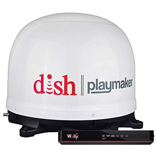 Winegard PL-7000R DISH Playmaker White Portable Antenna with Wally HD Satellite Receiver Bundle