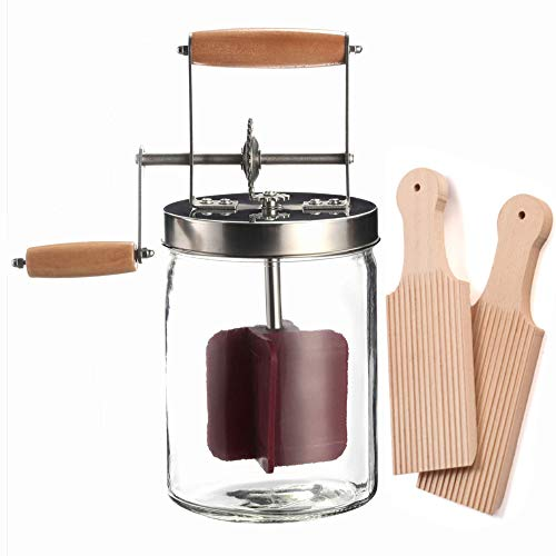 Dazey Butter Churn - Hand Crank Butter Churner- Manual Butter Maker- Beech Wood BUTTER PADDLES INCLUDED. Create Delicious Homemade Butter With Your Own Hand Crank Dazey Butter Churner