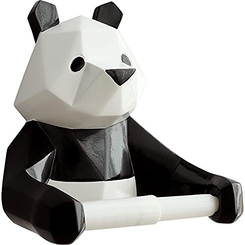 WHLLXUE Nordic Panda Paper Towel Holder Kitchen Bathroom Toilet Household Toilet Paper Holder Free Perforation Wall-Mounted Paper Roll Holder