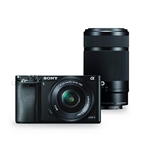 Sony Alpha a6000 Mirrorless Digital Camera w/ 16-50mm and 55-210mm Power Zoom Lenses (Renewed)