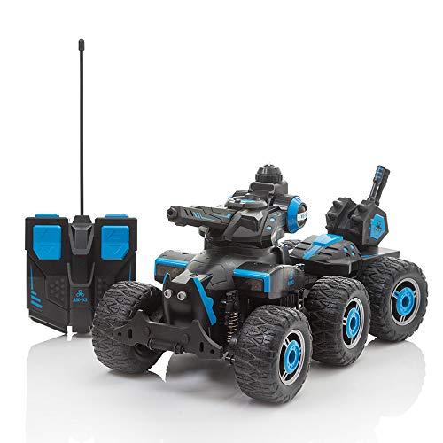 Serbatoio di controllo remoto che spruzza acqua, giocattoli radiocomandati per auto per ragazze dei ragazzi, spara acqua dalla torretta