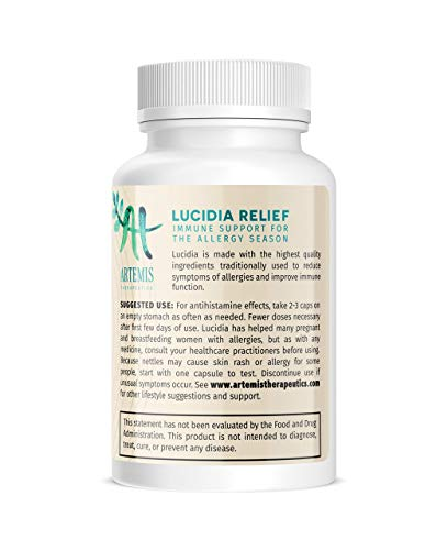 Lucidia Natural Allergy Relief | Alternative Allergy Medication, Childrens Allergy Medicine for Adults Allergy Pills, Antihistamine Tablets, Non Drowsy Allergy Pills, Allergy Pills Non Drowsy 24 Hour