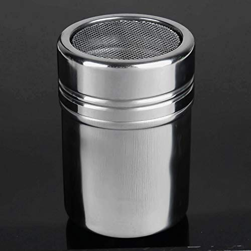 Check Out This Stainless Steel 304 Dusting Powder Condiment Tank Fine Mesh Barrel Cocoa Powder House...