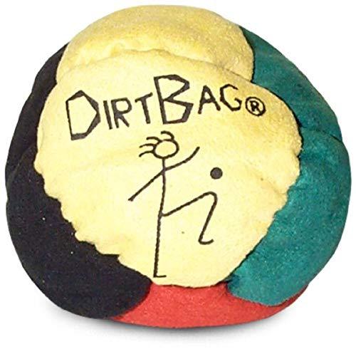 World Footbag Dirtbag Hacky Sack Footbag, Yellow/Black/Green/Red