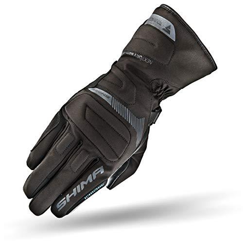 SHIMA TOURING DRY, Motorradhandschuhe Wasserdichte Warme Handschuhe mit Protektoren Motorrad Winter Vollfinger Leder Motorrad (XL, Schwarz)