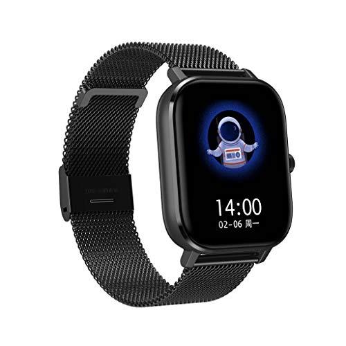 Smartwatch, Armband DT35 Fitness Armband Fitness Tracker Voller Touch Screen Smart Watch Uhr mit Pulsuhren Schrittzähler Armbanduhr Sportuhr für iOS Android (D)