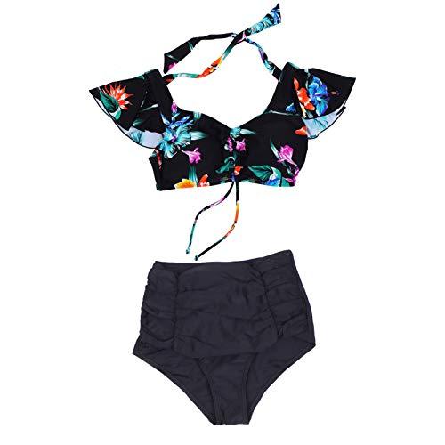 BESPORTBLE 1 Juego de Traje de Baño Triangular para Mujer con Estilo Bikini Estampado Traje de Baño