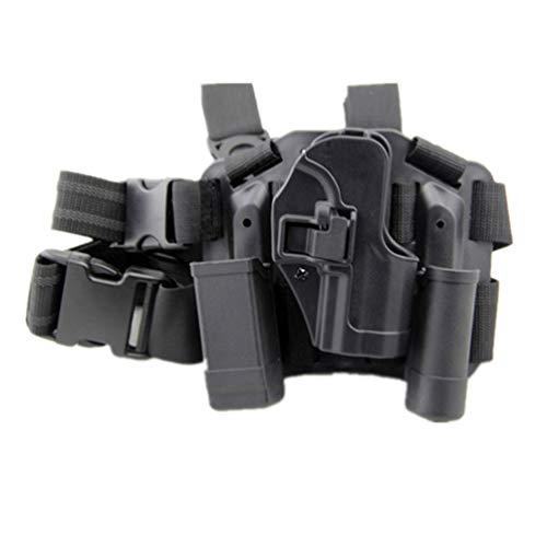 SGOYH Airsoft Taktisch Rechts Drop Leg Holster Fall Bein Paddle Holster Magazin Taschenlampe Tasche für H&K USP Compact (Schwarz)