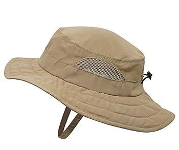 Connectyle Kids UPF 50+ Bucket Sun Hat UV Sun Protection Hats Summer Play Hat  Dark Khaki