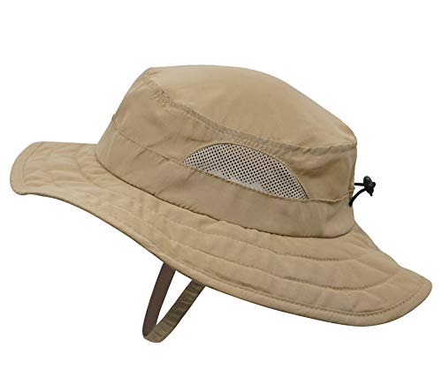 Connectyle Kids UPF 50+ Bucket Sun Hat UV Sun Protection Hats Summer Play Hat (Dark Khaki)