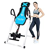 Afully Heavy Duty Inversion Table Premium Foldable Inversion Therapy Table for Back Pain Relief