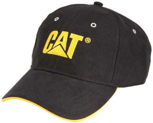 Berufsbekleidung CATERPILLAR Baseball-Cap, schwarz mit gelbem Logo, Gr.: universal