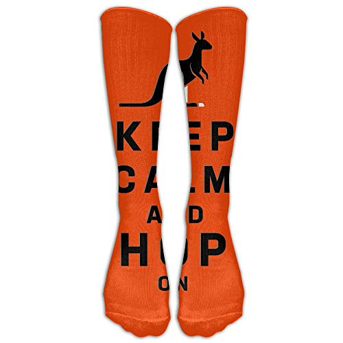 Kotdeqay Jeffostie Keep Calm Kangaroo Unisex Long Socken Crew Athletic Knee High Stockings