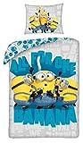 Halantex - MIN-9980BL - Juego de cama reversible Minions All for One Banana Rise of Gru...