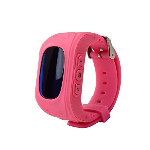 Kinder Smart Watch   Smartwatch  Armbanduhr   GPS, Telefon, Sprachnachrichten, Standortlokalisierung per App, Ortung, Tracker   Kein Handy notwendig - verwendbar mit Micro SIM Karte (Pink)