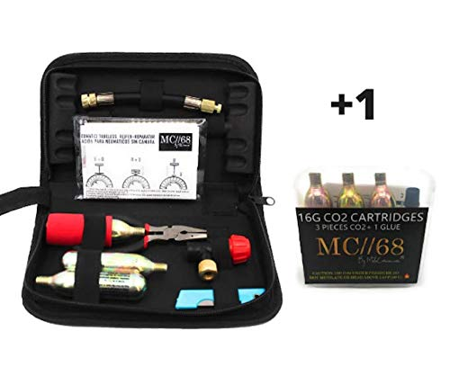 Kit Repara pinchazos Moto/Extra Recarga +1 / Kit Reparaciòn Llantas / CO2 / Kit Repara Pneumaticos Moto