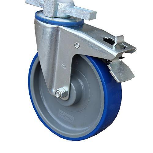 Alumexx Steigerwiel 200mm - Steiger - Wiel - Nylon - Rolsteiger - Wiel - Diameter Van 200 mm - Dubbel Geremd - Hoge Kwaliteit