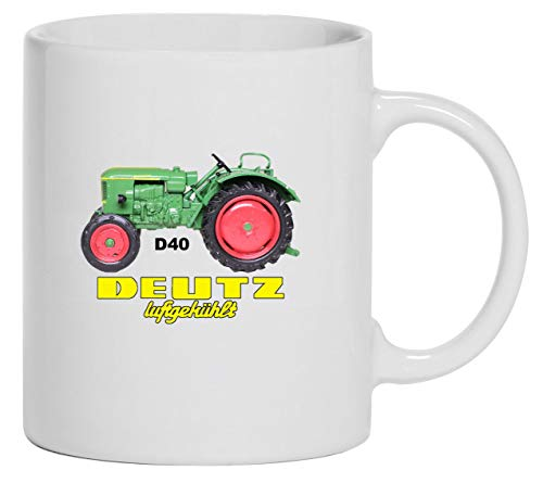 Bimaxx Traktor Tasse | Deutz Luftgekühlt D 40 | weiß