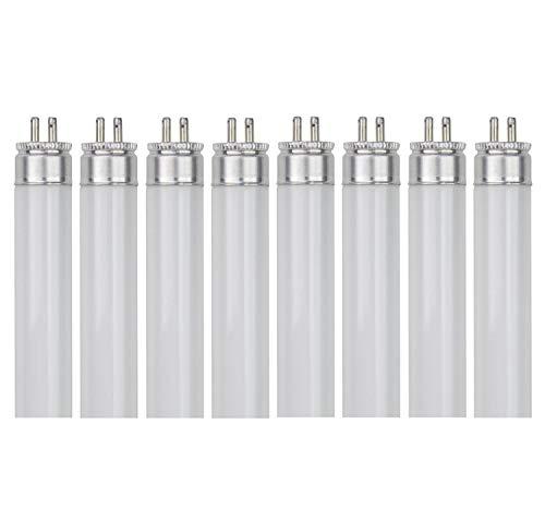 Sterl Lighting - Pack of 8 T5 Under Cabinet Lighting 11.33-inch Straight Fluorescent Tube Light Bulbs - 8 Watts - 120/220 Volts - G5 Base - 4100 Kelvin Cool White - 400 Lumens