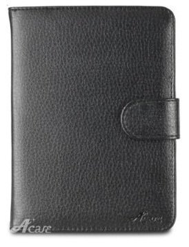Acase Leather Case for Kindle Paperwhite and Kindle Touch (Black)