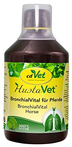 cdVet Naturprodukte HustaVet BronchialVital Pferd 500 ml - zur bedarfsgerechten Fütterung atemwegsempfindlicher Pferde - Vitamine - Unterstützung der Bronchialfunktion -  Immunsystem  -