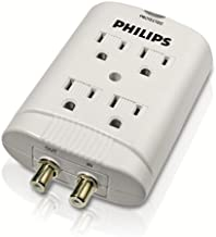 Philips SPP2305WA 720-Joule Child-Safe Wall Tap Home Entertainment Surge Protector (4 outlets) (Discontinued by Manufacturer)