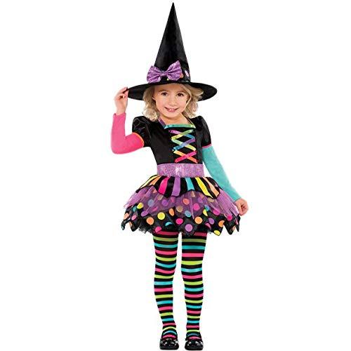 Amscan - Disfraz para niñas de bruja simpática (2-3 años)