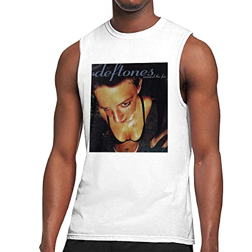 Deftones Around The Fur Men's Graphic Printed Classic Muscle Sleeveless Gym Workout T Shirt Camisetas y Tops(XX-Large)