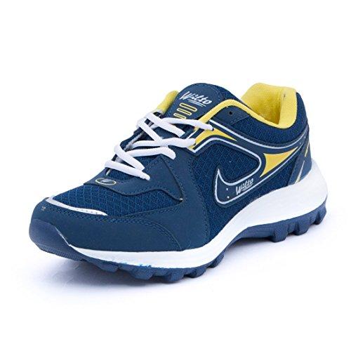 ASIAN Men's Navy Blue & SkyMesh Bullet Range Running Shoes -9 UK